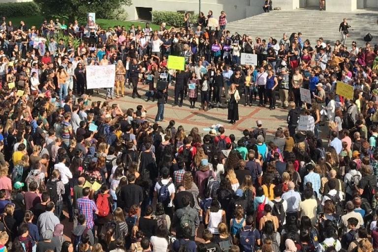 Faculty rally