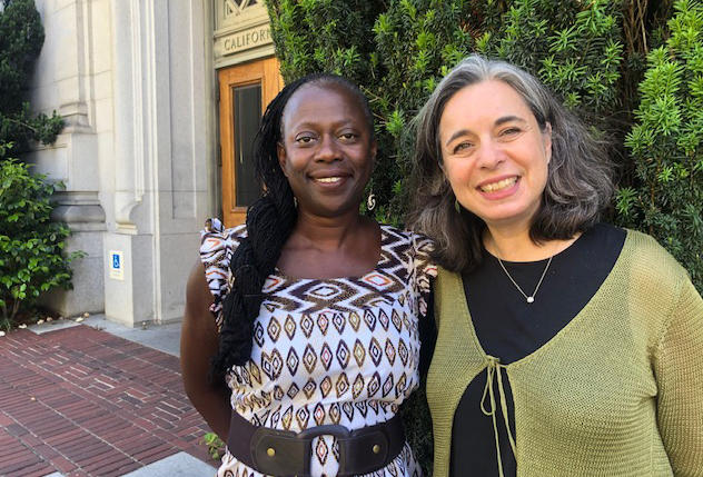 Rebecca Ulrich and Michele Radkin are working to build a common language to use when discussing racism. The Undoing Racism workshop was the first step.