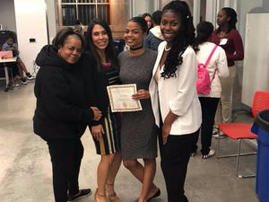Women in STEM Education Project - MC and Honor Roll Recipient Gia Ivory.
