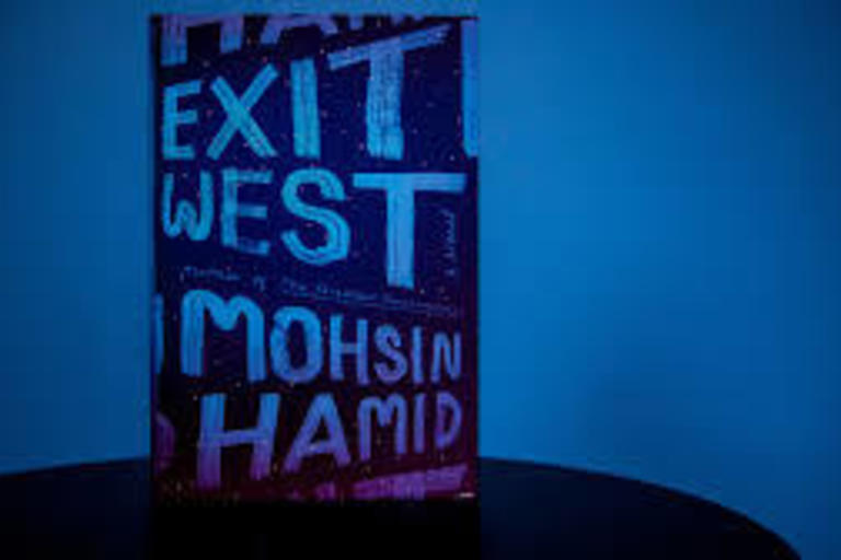 Cover of novel 'Exit West' by Mohsin Hamid