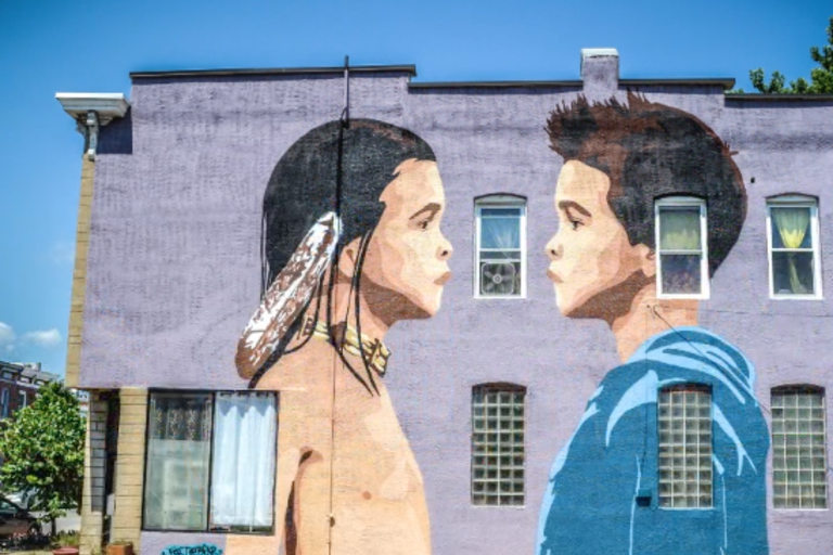 The Duality of Indigeneity - the creation of a mural in Baltimore, Maryland