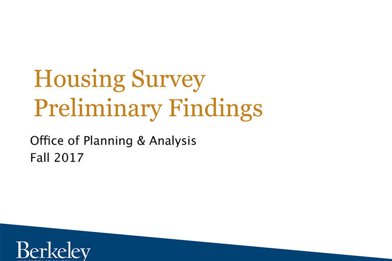 UC Berkeley Housing Survey Preliminary Finding, Fall 2017