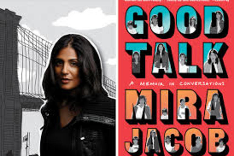 Good Talk - A Memoir in Conversations by Mira Jacob. A graphic memoir about American Identity, interracial families and the realities that divide us.