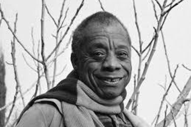 Photograph of James Baldwin.