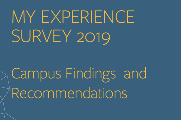 My Experience Survey 2019 - Campus Findings and Recommendations