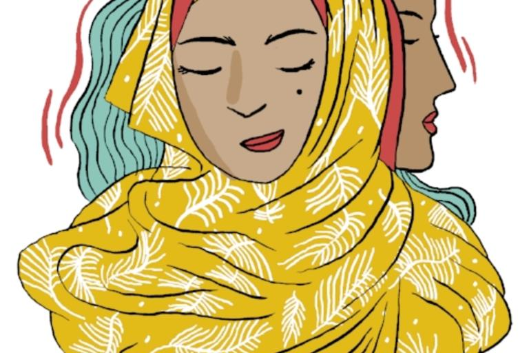 Not Just My Hijab - Kerning Cultures podcast. Co-production by Razan Alzayani, Lilly Crown, and Hebah Fisher. Sound design and original composition by Mohamed Khreizat. Special thanks to Dana Ballout and Hakaya Storytelling for the inspiration for this ep