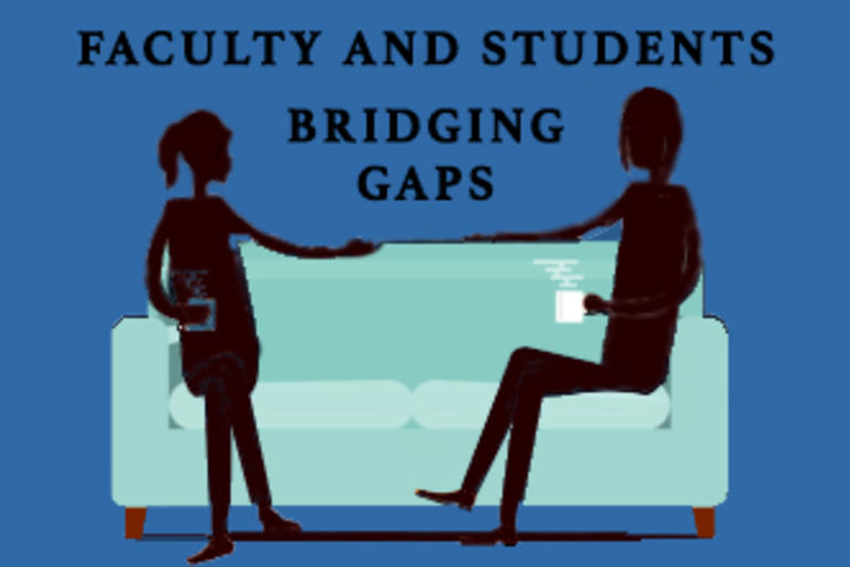 rofessor and faculty adviser Jean Retzinger, of the Media Studies Department, and third year Media Studies undergraduate Karina Candela, discussing the importance of creating a personal relationship between student and faculty. These are their experiences
