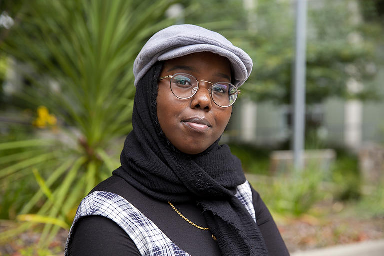 UC Berkeley freshman Saida Dahir is a spoken word poet and an activist. This story is about her family's journey to the U.S. and the injustice of Mr. Trump's Muslim ban.