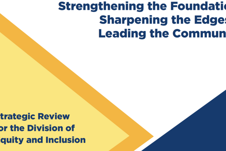 Strategic Review for the Division of Equity and Inclusion