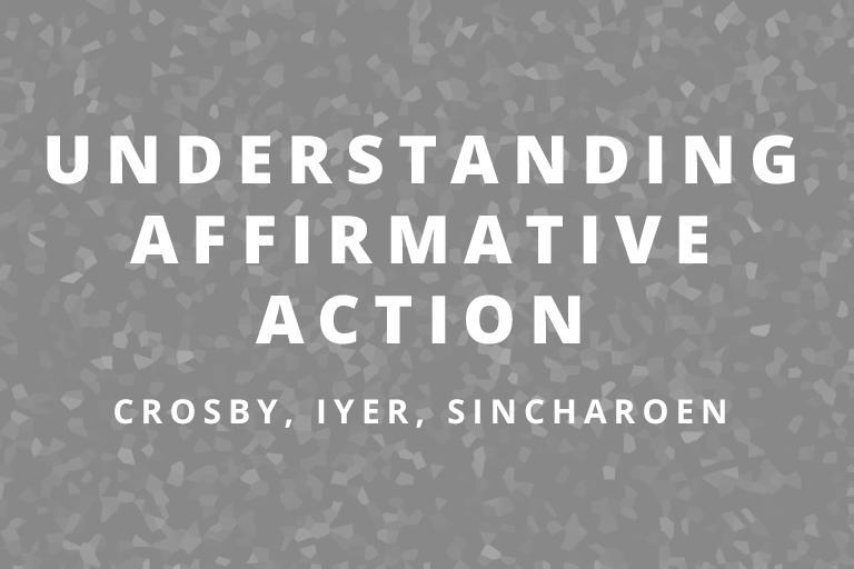 Understanding Affirmative Action