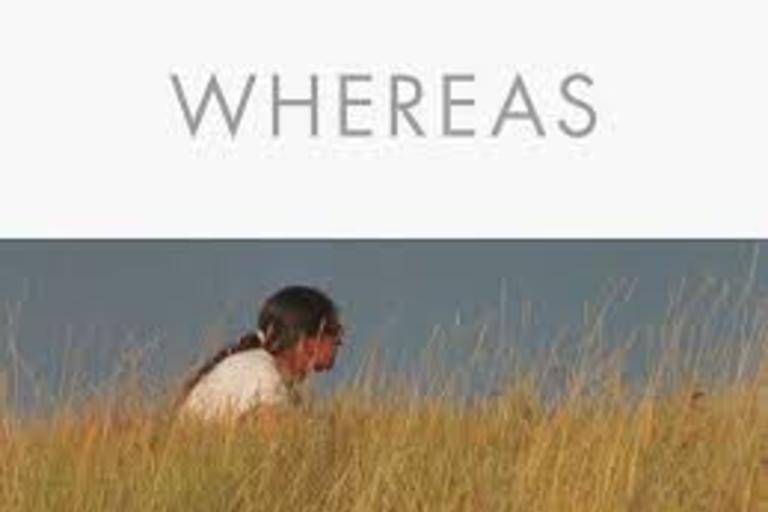 Book Cover - Whereas by Layli Long Soldier. A book of poetry that has been shortlisted for the 2017 National Book Award.