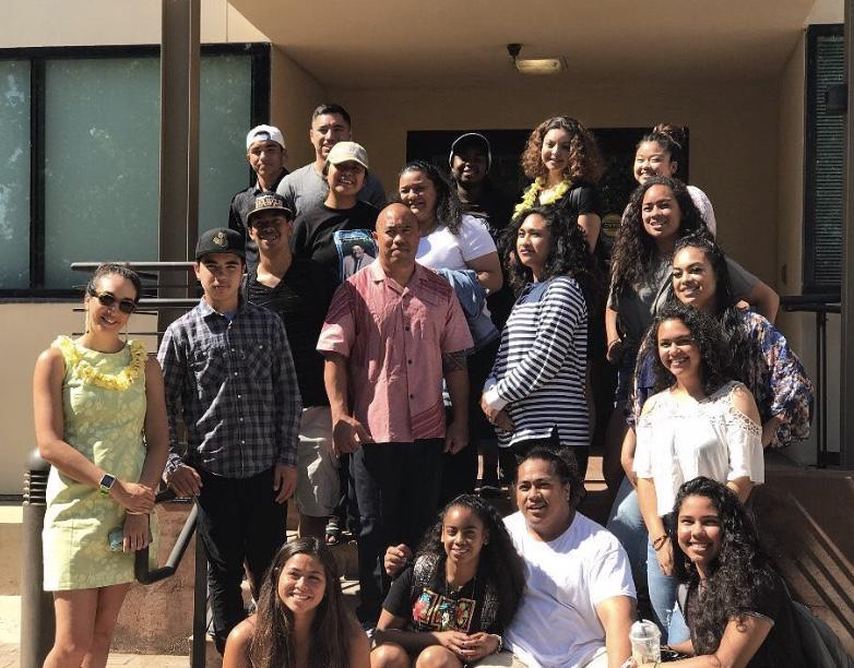 Members of UCLA's Pacific Islander Student Association supporting Dr. Troy Keali'i Lau at his dissertation defense.