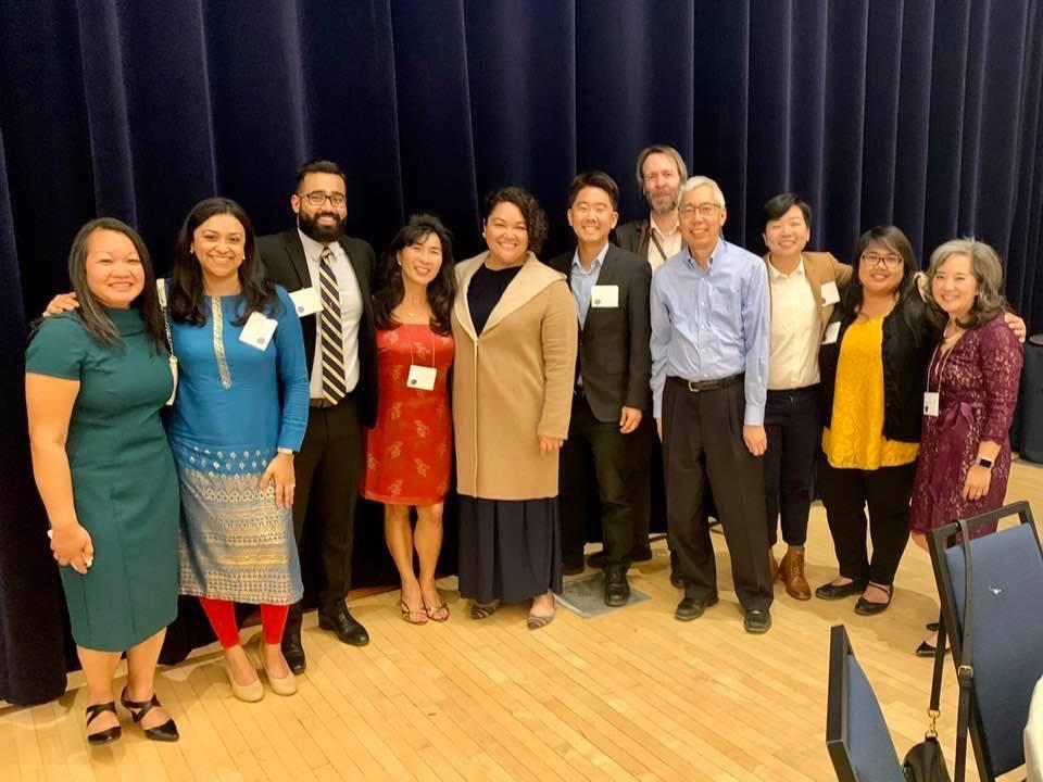 Members of the standing committee at the 50th Anniversary celebration of the Asian American and Asian Diaspora Studies Program - November 2019.