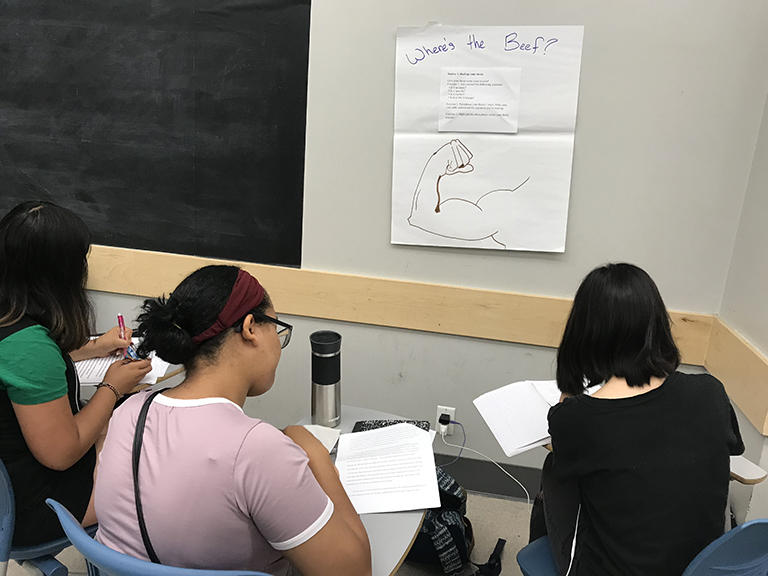 Pre College Program - One of the summer writing classes for high school students that prepares them for their upcoming courses.