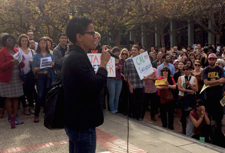 Equity Advisor rally in support of students