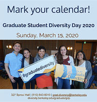 Graduate Diversity Day 2020 is on Sunday, March 15